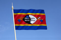 flagga swaziland Royaltyfri Fotografi