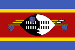 flagga swaziland Arkivfoton