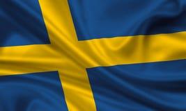 flagga sweden Fotografering för Bildbyråer