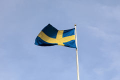 flagga sweden Royaltyfri Bild