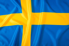 flagga sweden Royaltyfri Foto