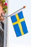 flagga sweden Arkivfoto