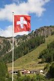 flagga switzerland Royaltyfri Foto