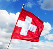 flagga switzerland Royaltyfria Bilder
