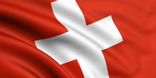flagga switzerland Royaltyfri Bild