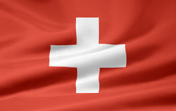 flagga switzerland royaltyfri illustrationer