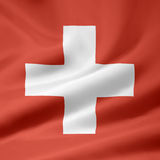 flagga switzerland Royaltyfri Bild