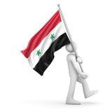 flagga syria Royaltyfria Bilder