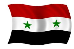 flagga syria royaltyfri illustrationer