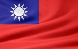 flagga taiwan Royaltyfri Foto