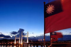 flagga taiwan Royaltyfri Fotografi