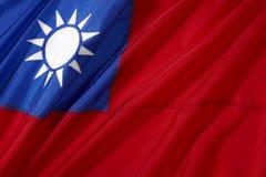 flagga taiwan Royaltyfri Bild