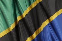 flagga tanzania Royaltyfri Foto