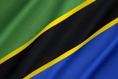 flagga tanzania Fotografering för Bildbyråer