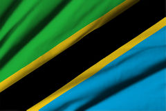 flagga tanzania Arkivfoton