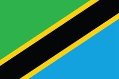 flagga tanzania Royaltyfria Foton