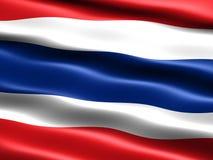 flagga thailand royaltyfri illustrationer