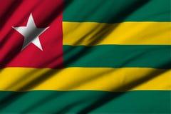 flagga togo Arkivbild