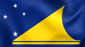 flagga tokelau royaltyfri illustrationer