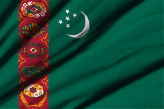 flagga turkmenistan Arkivbilder