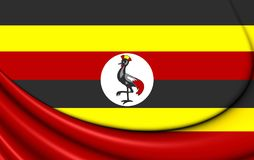 flagga uganda stock illustrationer