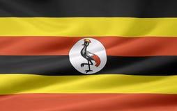 flagga uganda Royaltyfri Fotografi