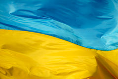 flagga ukraine fotografering för bildbyråer