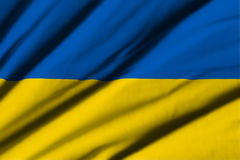flagga ukraine Royaltyfri Foto