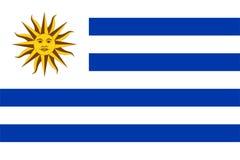 flagga uruguay Arkivfoton