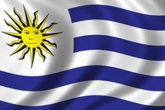 flagga uruguay vektor illustrationer