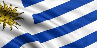 flagga uruguay Royaltyfri Fotografi