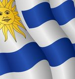 flagga uruguay Royaltyfria Foton