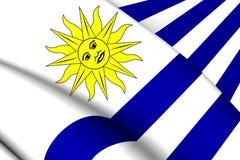 flagga uruguay royaltyfri illustrationer