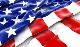 flagga USA vektor illustrationer