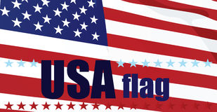 flagga USA stock illustrationer