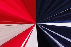 flagga USA abstrakt bakgrundsstrålar Bandstrålmodell Moderna trendfärger för stilfull illustration Royaltyfria Foton