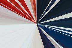 flagga USA abstrakt bakgrundsstrålar Bandstrålmodell Moderna trendfärger för stilfull illustration arkivbilder