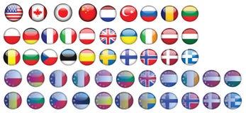 Flagga USA Kanada Tyskland Polen Frankrike Italien Fotografering för Bildbyråer