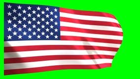 flagga USA som vågr wind vektor illustrationer