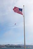 flagga USA som vågr wind Royaltyfri Foto