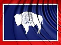 flagga USA wyoming stock illustrationer