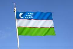 flagga uzbekistan Royaltyfria Bilder