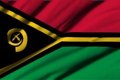 flagga vanuatu Fotografering för Bildbyråer