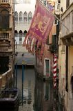 flagga venetian italy Arkivbilder