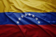 flagga venezuela Fotografering för Bildbyråer