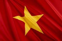 flagga vietnam Royaltyfri Bild