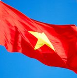 flagga vietnam Arkivfoto