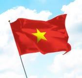 flagga vietnam Fotografering för Bildbyråer