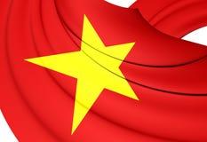 flagga vietnam royaltyfri illustrationer