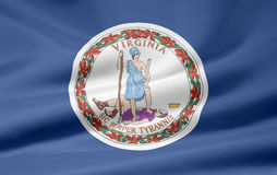 flagga virginia Royaltyfria Foton